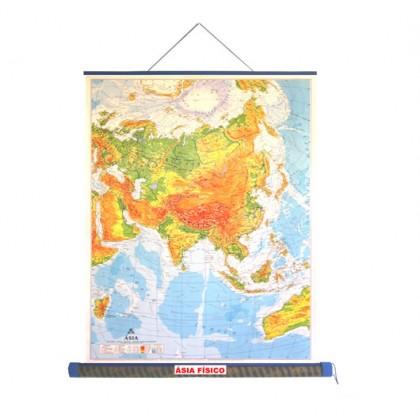 Mapa Laminado Ásia: Ásia Físico - ECA