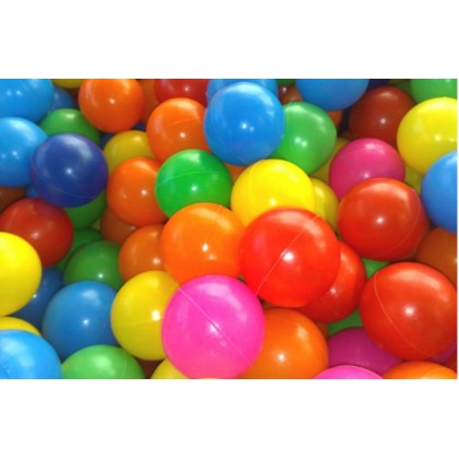 Bolas Plásticas Coloridas p/Piscina c/1000-Mundo Azul