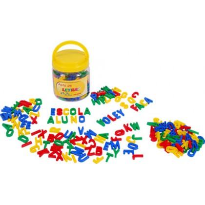 Pote com Letras em Plástico c/171 Pçs-BM