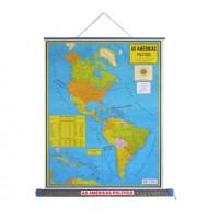 Mapa Laminado As Américas: As Américas Político - ECA