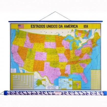 Mapa Laminado As Américas: América Central Político - ECA