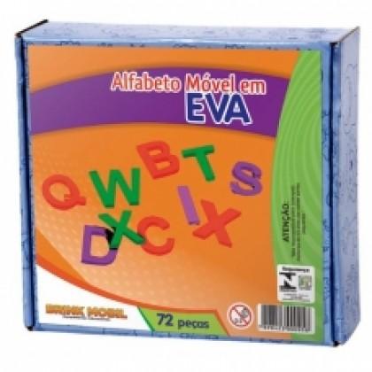 Alfabeto Móvel em EVA c/72 Pçs-BM