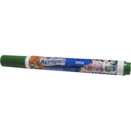 Caneta p/Tecido Verde Musgo Acrilpen - Acrilex