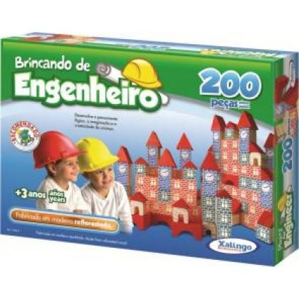Brincando de Engenheiro c/200 Pçs - Xalingo