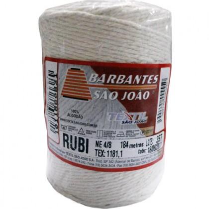 Barbante Rubi 4/8 Cru 184mts - São João