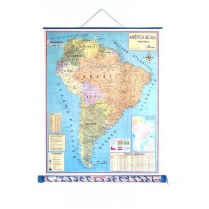 Mapa Laminado As Américas: América do Sul Político - ECA