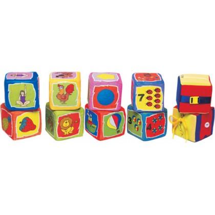 Cubos Educativos em PVC 10x10cm c/10 Pçs-BM