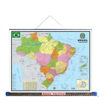 Mapa Laminado: Brasil Político - ECA