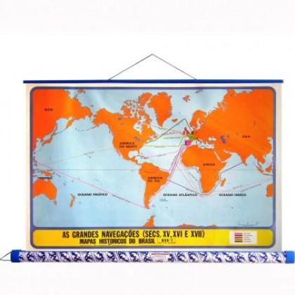 Mapa Laminado HB: As Gdes Navegações do Séc. XV - ECA
