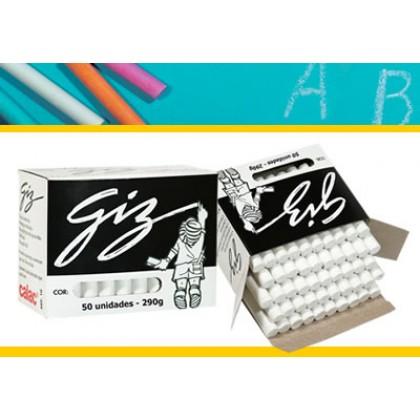 Giz Escolar Calac Branco c/50 Palitos Cx c/30