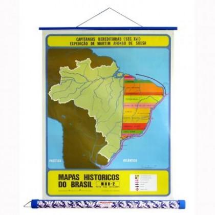 Mapa Laminado HB: Capitanias Hereditárias - ECA