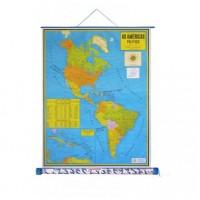 Mapa Laminado As Américas: América do Norte Político - ECA
