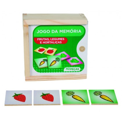 Memória de Frutas, Legumes e Hotaliças em MDF c/40 Pçs-BM