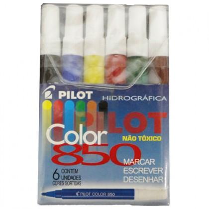 Caneta Hidr. Color 850 Jr c/6 Cores-Pilot