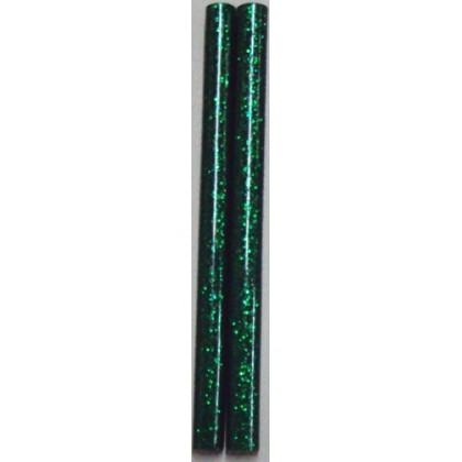 Bastão de Cola Silicone Fino Verde c/Gliter 250g - Cis