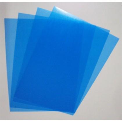 Capa p/Encadernação A4 c/100 Transp.Azul-ACP