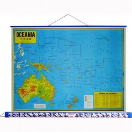 Mapa Laminado: Oceania Físico - ECA