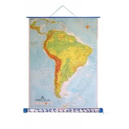 Mapa Laminado As Américas: América do Sul Físico - ECA