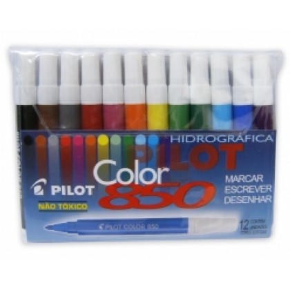 Caneta Hidr. Color 850 Jr c/12 Cores-Pilot
