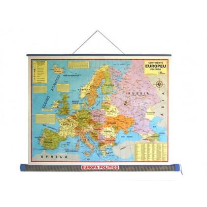 Mapa Laminado Europa: Europa Político - ECA
