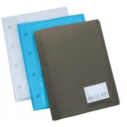 Pasta Catálogo Transp. Azul c/30 env. 0,12-ACP