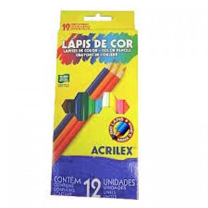 Lápis 12 Cores Inteiro Hexagonal c/6 Et - Acrilex